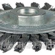 Щетка Stayer дисковая для дрели, витая стальная проволока 0,3мм, 63мм Код:35198-063 фото