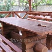 Столы деревянные для беседки фото