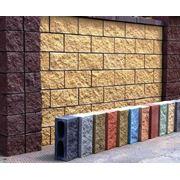 блоки для забора 390х190х120 (структура рваный камень) фото