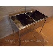 Ванна моечная двухсекционная полностью из нержавеющей стали (ДхШхВ) 1000х600х860 емкость 500х500х300 фото