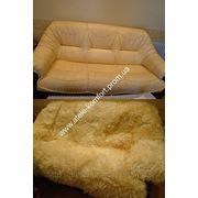 Меховой чехол на диван фото