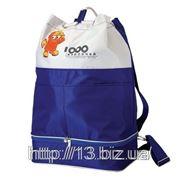 Р271 Рюкзак с шнуровкой и секцией снизу.   Пошив на заказ   Нанесение логотипа фото