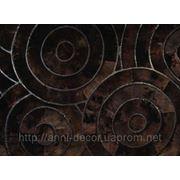 Оригинальный ковер из овчины в гостиную Спираль тройная фото