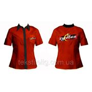 Пошив блуз для персонала с логотипом фото