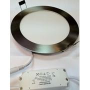 Светодиодный встраиваемый светильник 15 Вт 6500 K D180 хром 220 В фото