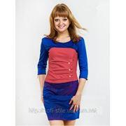 Платье трикотажное с пуговицами Кети фото