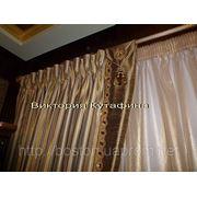 Обработка верха классической шторы без стяжечной ленты. фото