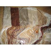 Пришивание шторной ленты к нитям-кисея фото