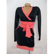 Платье трикотажное с широким поясом Доли фото