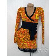 Платье трикотажное цветное фото