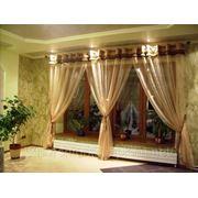 Пошив штор, гардины для окон, шторы и гардины киев, жалюзи гардины, гардины из органзы фото
