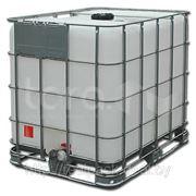 Емкости кубические 1000 литров на металлическом поддоне фото