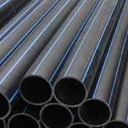 Трубы ПЭ для водо- газоснабжения, ПЭ 100, различное давление, соединительные части к трубам фото
