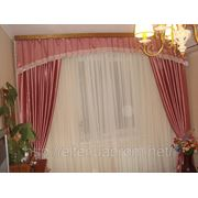Пошив штор, гардин, мягкого ламбрекена в спальной комнате. фото