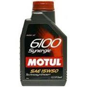 Моторное масло MOTUL 6100 Synergie + 1л, полусинтетика фото