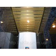 Потолки подвесные реечные фото