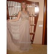 Вечернее, выпускное платье с бантом 4002 фото