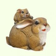 """Фигуры зверей садовые. Фигурка """"Семейство кроликов"""" фото"""