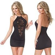 Облегающее платье с кружевной вставкой фото