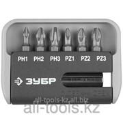 Набор Зубр Бита Мастер с магнитным адаптером, хромомолибденовая сталь S2, PH1,2,3, PZ1,2,3, 7 пред Код: 26043-H7 фото
