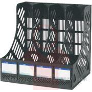 Лоток пластиковый вертикальный Economix, сборный, на 4 отделения (36326) фото