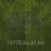 """Гирлянда """"Светодиодный Дождь"""" 2х3м, постоянное свечение, черный провод, 220В, диоды ЗЕЛЁНЫЕ, NEON-NIGHT фото"""
