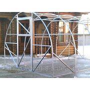 Теплица Урожай Элит 10-и метровая (оцинкованная труба 25х25 мм, поликарбонат сотовый 4 мм, две двери) фото