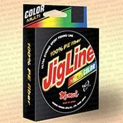 Плетенка JigLine Multicolor 100 м, 5 цветов по 10 м 0,35 мм тест 30 кг фото