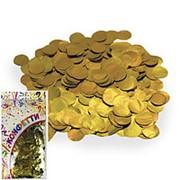 Конфетти фольгированное Круги золото 2см 300гр фото