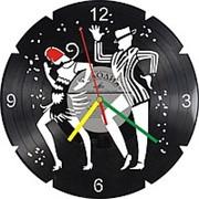 Настенные часы из виниловых пластинок Cake walk фото