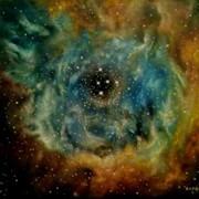 Вселенная.Цикл.Туманность Розетка,50х60,2011г.,1000 грн. фото