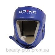 Шлем боксерский BOYKO-SPORT №1 кожа синий фото