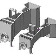 Конструкция лотка Паршалла с фланцеым подключением фото