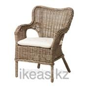 Кресло серый, Лайла неокрашенный БЮХОЛЬМА,МАРИЕБЕРГ фото