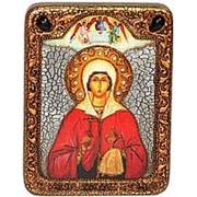 Олд Модерн Анастасия Узорешительница, святая великомученица, копия писанной иконы ручной работы под старину Высота иконы 20 см фото