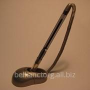 Ручка шариковая на клеящейся подставке,с регулируемым наклоном,с телешнуром,Axent AB 1019. фото