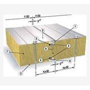 Сендвич-панель SPB W (Isotherm SCw) для стен, 80 мм, наполнение мин. вата фото