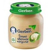 Пюре GERBER Цветная капуста, 130 г (упаковка 4 шт) фото