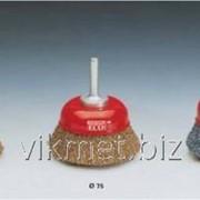 Щетки из гофрированной стальной проволоки для использования на углошлифмашинах фото