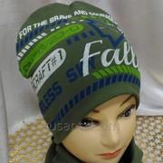 Детские шапочки для мальчиков, комплект - Свобода– шапка+снуд фото