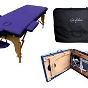 Стол складной массажный TEO, производитель ART of Choice. Деревянный переносной массажный стол. Косметологическая кушетка раскладная TEO фото