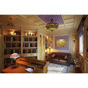 3d визуализация кабинета фото