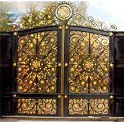 Позолоченные ворота Ворота под старину фото