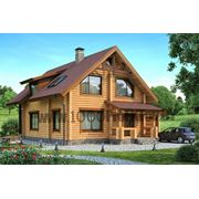 Жилой дом из оцилиндрованного бревна фото