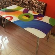 Стеклянные столы с фотопечатью фото