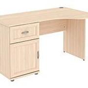 Письменный стол ПМ: Уют сервис Стол угловой с тумбой и ящиком Леруа Г776.03 фото