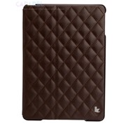 Чехол JisonCase Quilted Leather Cover Brown для iPad Air фото