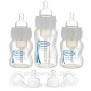 Набор из 3-х противоколиковых бутылочек с широким горлышком, 240 и 2 по 120 фото