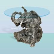 Журнальный стеклянный столик Слон фото