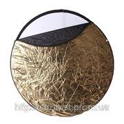 Отражатель 5в1 80см (серебряный, золотой, черный, белый, на просвет) фото